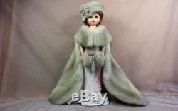 Silver Grey Mink Fur Cape Hat& Muff for Madame Alexander Cissy dollsdimitha