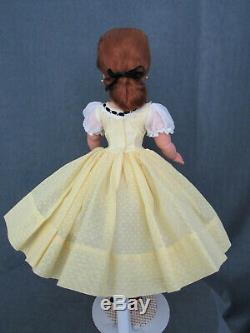 Stunning Cissy In Lemon Yellow Dotted Swiss With Auburn Hair