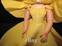 Super Rare #2098 Cissy Gold Tafeta Dress with Cape Madame Alexander Doll 1955