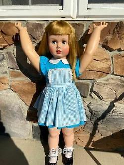 VERY RARE 35 Madame Alexander Vinyl Janie Playpal Doll From 1959, Gorgeous