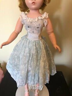 VHTF 1960 Madame Alexander Cissy Tagged Blue BirdCage Organdy Dress NO Doll
