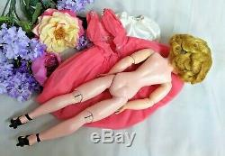 VINTAGE 1950 Madame Alexander CISSY DOLL blonde 20 in CHIFFON rhinestone DRESS