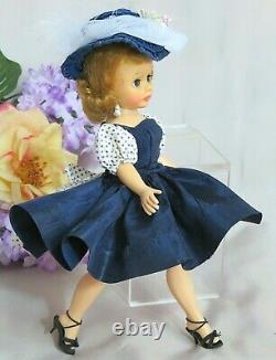 VINTAGE 1950s MADAME ALEXANDER CISSETTE DOLL tagged DRESS HAT red white blue HAT