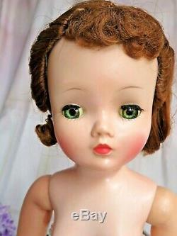 VINTAGE 1950s Madame Alexander CISSY DOLL red hair 20 hard plastic NO CLOTHES