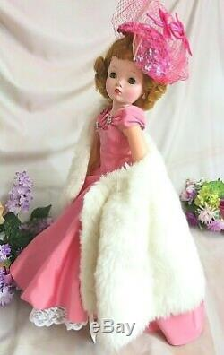 VINTAGE 1950s Madame Alexander CISSY DOLL red head 20 hard plastic TAGGED DRESS