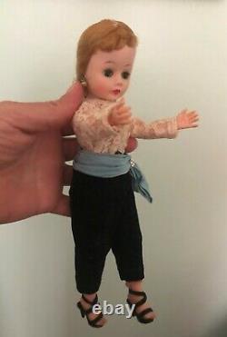 VINTAGE CISSY DOLL MADAME ALEXANDER Blonde Toreador Pants 1957 Blue Sash MME 9