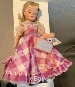 VINTAGE MADAME ALEXANDER 14 HP Curlers Box LITTLE WOMEN AMY Tag Purple Dress