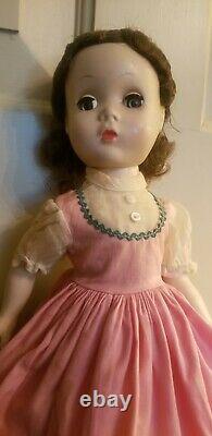 VINTAGE MADAME ALEXANDER MAGGIE LITTLE WOMEN BETH RED TAG 1954-55 14.5 Straight