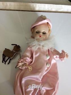 VINTAGE Madame Alexander 1956 #561, PIERROT CLOWN 8' BKW