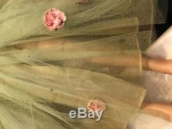 VINTAGE Madame Alexander Cissy doll with rare green tulle gown