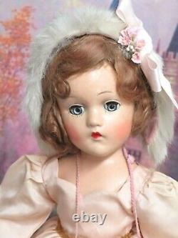 VINTAGE antique 1930s Madame Alexander Wendy Ann DOLL composition TAGGED DRESS