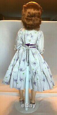 VIntage Madame Alexander Cissy Doll 1958 Purple Butterfly Dress HTF & Rare Hat