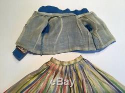 Very Hard to Find 1959 Vintage Madame Alexander Cissy Doll Ribbon Skirt & Mandar