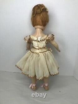 Vintage 14 Madame Alexander Nina Ballerina Doll Hard Plastic Tagged dress