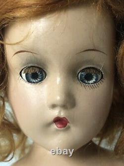 Vintage 1930 1940s Madame Alexander Composition Wendy Ann 14 Bride Doll