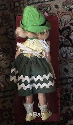Vintage 1930's Madame Alexander 9 Swiss Girl & Boy in Original Boxes & Tagged