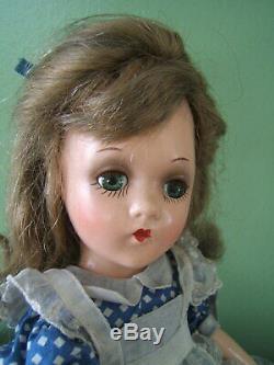 Vintage 1930's Mme Alexander 13 Alice in Wonderland Doll Wendy Ann AO