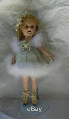 Vintage 1930s 13 Swivel Waist Compo Alexander Sonja Henie Doll in Tag Costume