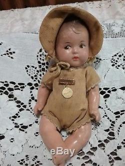 Vintage 1930s Madame Alexander Composition Dionne Quintuplets Baby Doll Set RARE