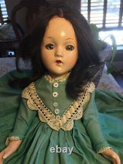 Vintage 1940s Madame Alexander Scarlett O'Hara 18 Composition Doll