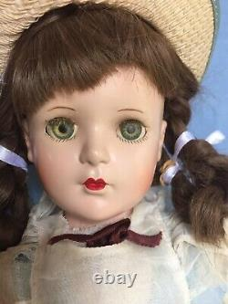 Vintage 1940s Margaret OBrien 18 HP Doll By Madame Alexander, Orig. Dress