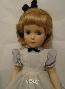 Vintage 1947 18 Composition Madame Alexander A/O Alice in Wonderland Doll