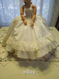 Vintage 1950's Madame Alexander 20 Cissy doll OOAK Bridal ensemble amazing