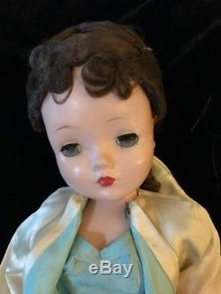 Vintage 1950's Madame Alexander 20 Cissy doll in tagged elegant dress and coat