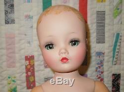 Vintage 1950's Madame Alexander 20 Cissy doll, no wig, restored