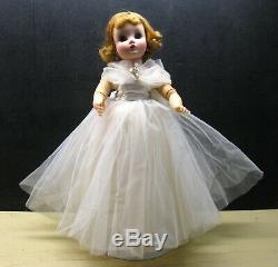 Vintage 1950's Madame Alexander Elise Bridal Doll Fully Jointed 16 in