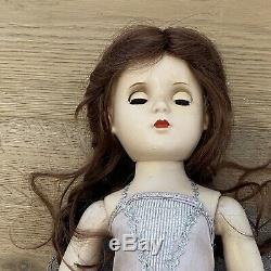 Vintage 1950s Madame Alexander 18 hard plastic ballerina doll, New Wig