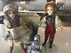 Vintage 1950s Madame Alexander AUSTRIAN COUPLE COMPO OR Hard PLASTIC RARE DOLLS