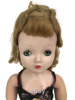 Vintage 1950s Madame Alexander Cissy Doll Hard Plastic 21 Tagged Teddy As Found