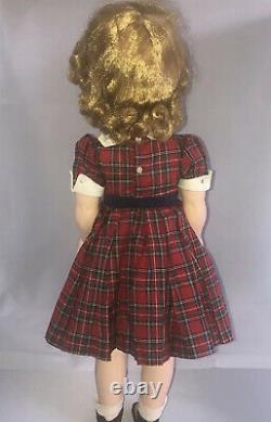 Vintage 1953-1955 WINNIE WALKER 25 Doll Madame Alexander TAGGED DRESS STUNNING