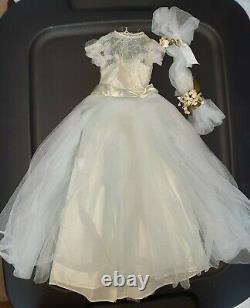 Vintage 1956 Madame Alexander Cissy Blue Bridesmaid Dress, and Headpiece