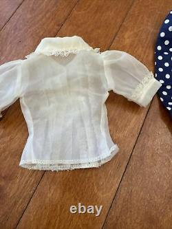 Vintage 1957 Madame Alexander Cissy HFT Navy Polka Dot Tagged Skirt Set Tagged