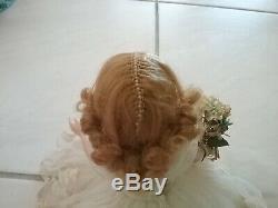 Vintage 1958 Madame Alexander Cissette Bride Doll Wreath Pattern Wedding Dress