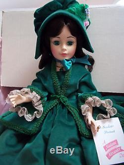 Vintage 21 Madame Alexander Scarlett Green Velvet Dress #2240 Mint in Box