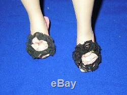 Vintage 55-56 Madame Alexander 20 Basic Cissy doll in black chemise