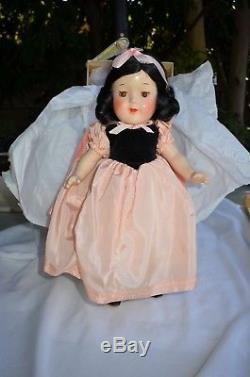 Vintage Antique Madame Alexander 1939 Composition Snow White Doll withorig box 13