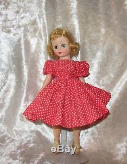 Vintage Blonde Madame Alexander Dollcissette In Tagged Red Polka Dot Dress
