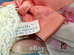 Vintage CISSETTE 9 in. SHEER ROSE DRESS Tagged w Chemise MME Madame Alexander