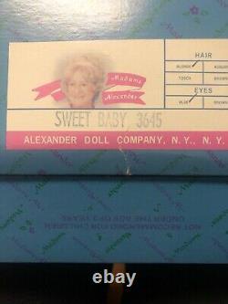 Vintage Madam Alexander Doll Sweet Baby. 3645