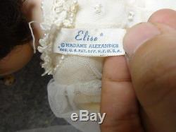 Vintage Madame Alexander 15.5 ELISE BRIDE DOLL