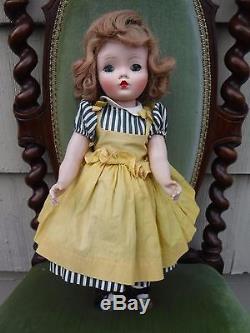 Vintage Madame Alexander 17 Binnie Walker Doll Tagged Dress issues