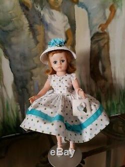 Vintage Madame Alexander 1950's Cissette Doll Dressed in Adorable Print Dress