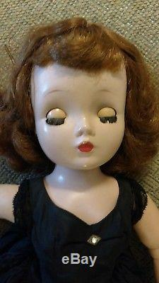 Vintage Madame Alexander 1950s Cissy Doll Original Outfit Black Dress Nylons