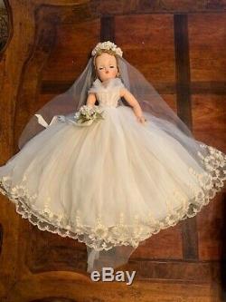 Vintage Madame Alexander 20 MIB Bridal Wreath Blonde Cissy Doll