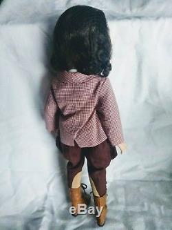 Vintage Madame Alexander Brunette Elise Doll in TAGGED Equestrian Set+ HTF BOOTS