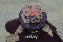 Vintage Madame Alexander Cissette Doll In Purple Victorian Dress & Purple Hat